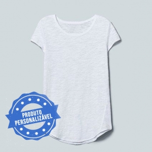 Camiseta Feminina Long Personalizável
